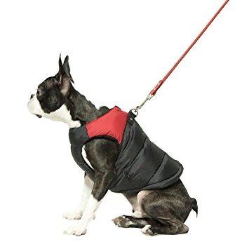 gooby acolchado clima frío chaleco para perros pequeños con
