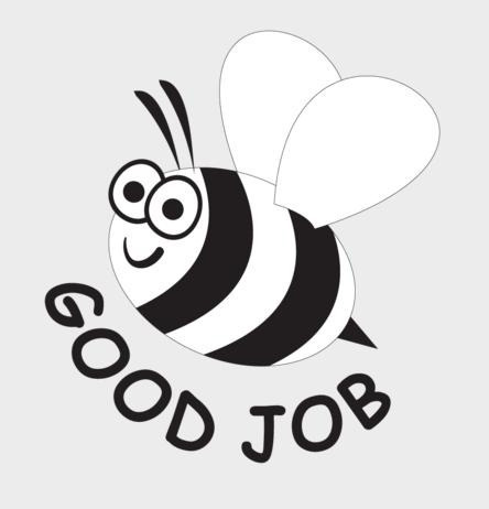 good job abeja sello inglés goma mango madera 1 pieza alim