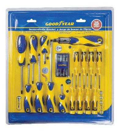 goodyear set destornilladores (25 piezas)