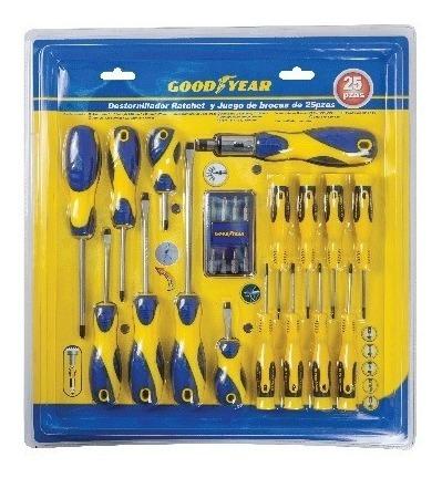 goodyear set destornilladores (25 piezas) cyc2