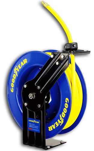 goodyear steel retractable air compressor/water hose reel wi