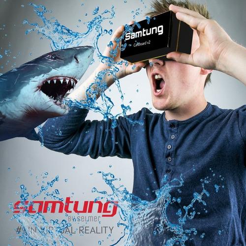 google black cardboard virtual reality glasses by sa -negro