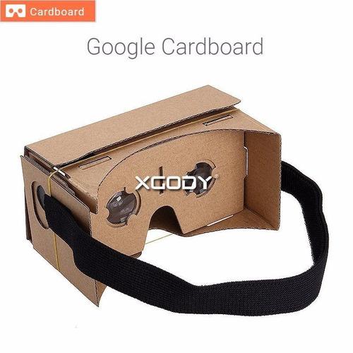 google cardboard realidad virtual cartón 3d + correa + nfc