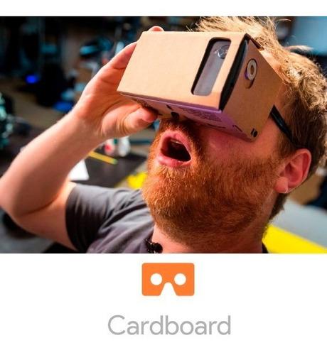 google cardboard visor lentes de realidad virtual vr box!