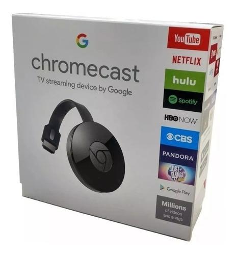 google chromecast 2 hdmi (1080p) negro - nuevo!!! 35v