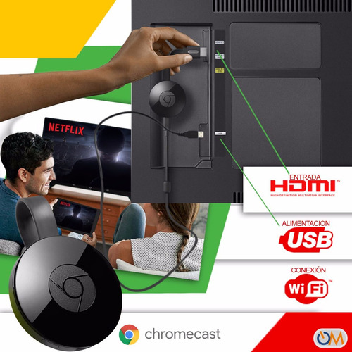 google chromecast 2 tv 2da generacion tv smart original!