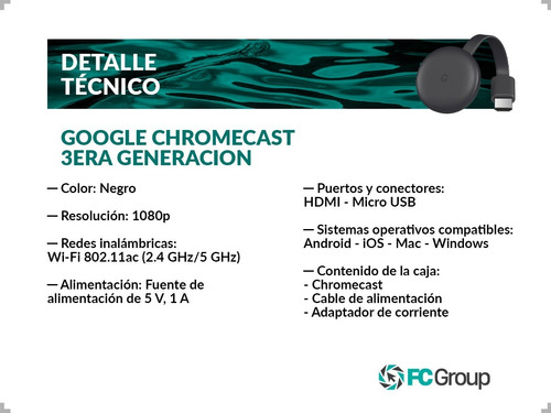 google chromecast 2018 3era generacion new 2018