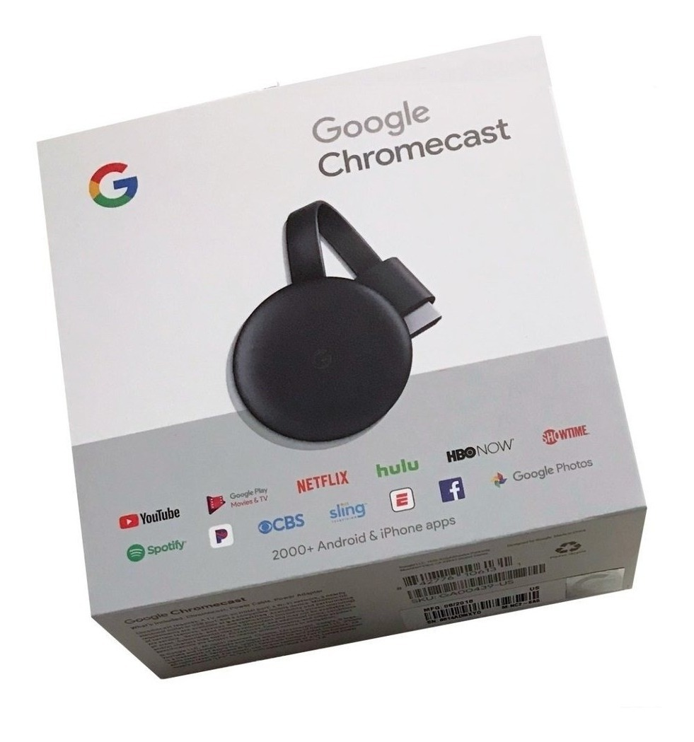 Chromecast 3ª Generación Google Smart P/netflix Youtube