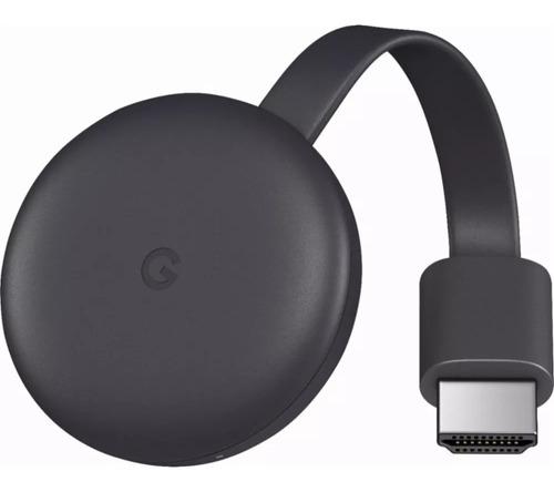 google chromecast 3 generacion 2018 ga00439-us charcoal