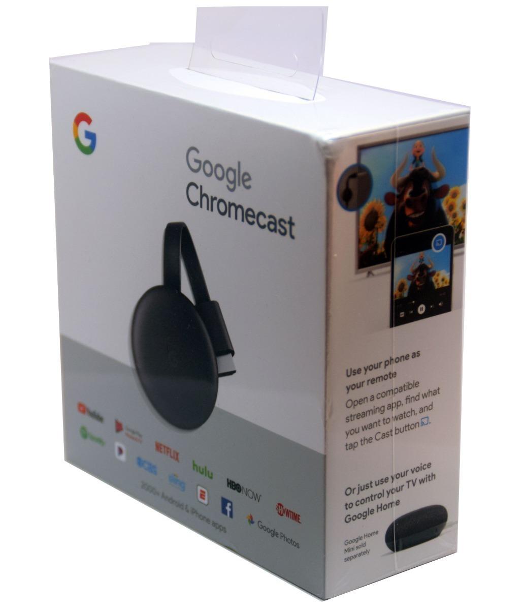 Google Chromecast 3 Original Netflix Youtube Hbo Go Smart Tv