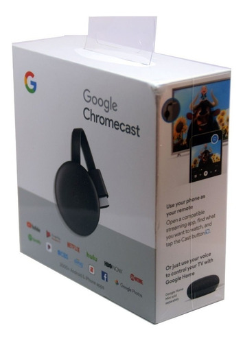 google chromecast 3 smart tv box original netflix + adapt