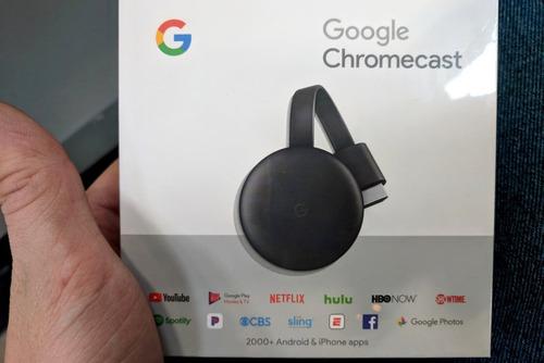google chromecast 3ra gen smart tv box netflix hdmi full hd flow streaming spotify dual band