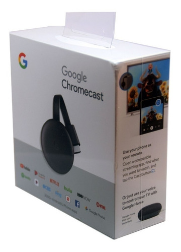 google chromecast 3ra generacion con cargador caja sellada