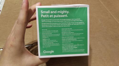 google home mini charcoal original inglês