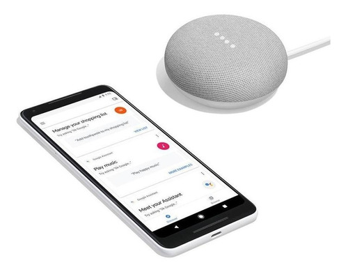 google home mini gris parlante altavoz inteligente / lhua
