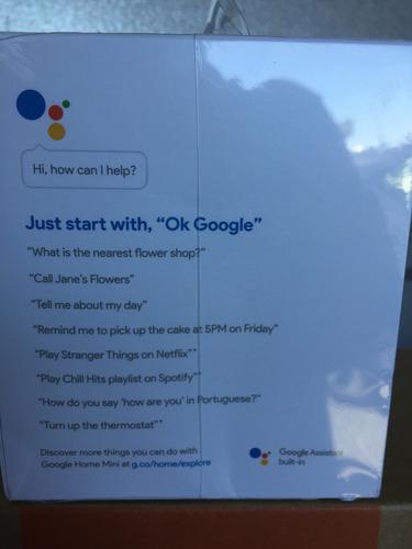 google home mini - promocion gris