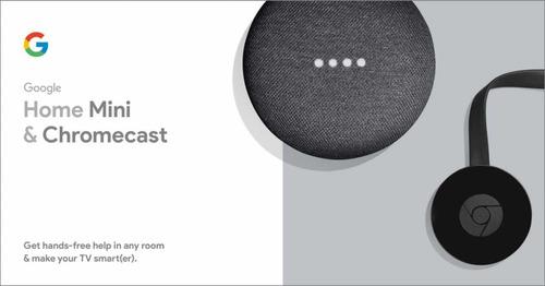 google home mini + tv chromecast smart kit- nuevos !!