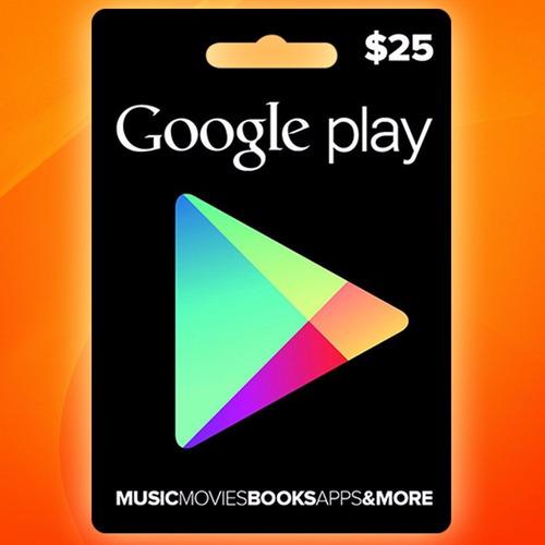google play gift card $25 android smartphone tarjeta prepago