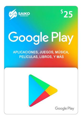google play gift card $25 / tarjeta de regalo - free fire