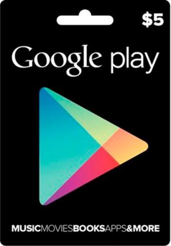 google play store $5 freefire, pubg y mucho más
