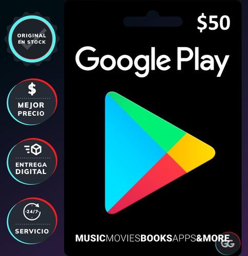 google play tarjeta gift card 50 dólares usd [pc]