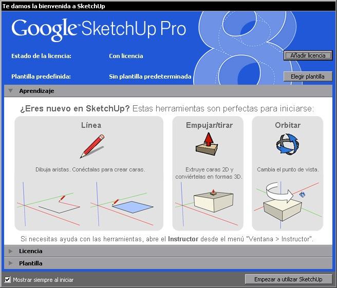 Google sketchup pro 8 0 programa para dise o gr fico 3d for Programas de diseno de jardines gratis en espanol