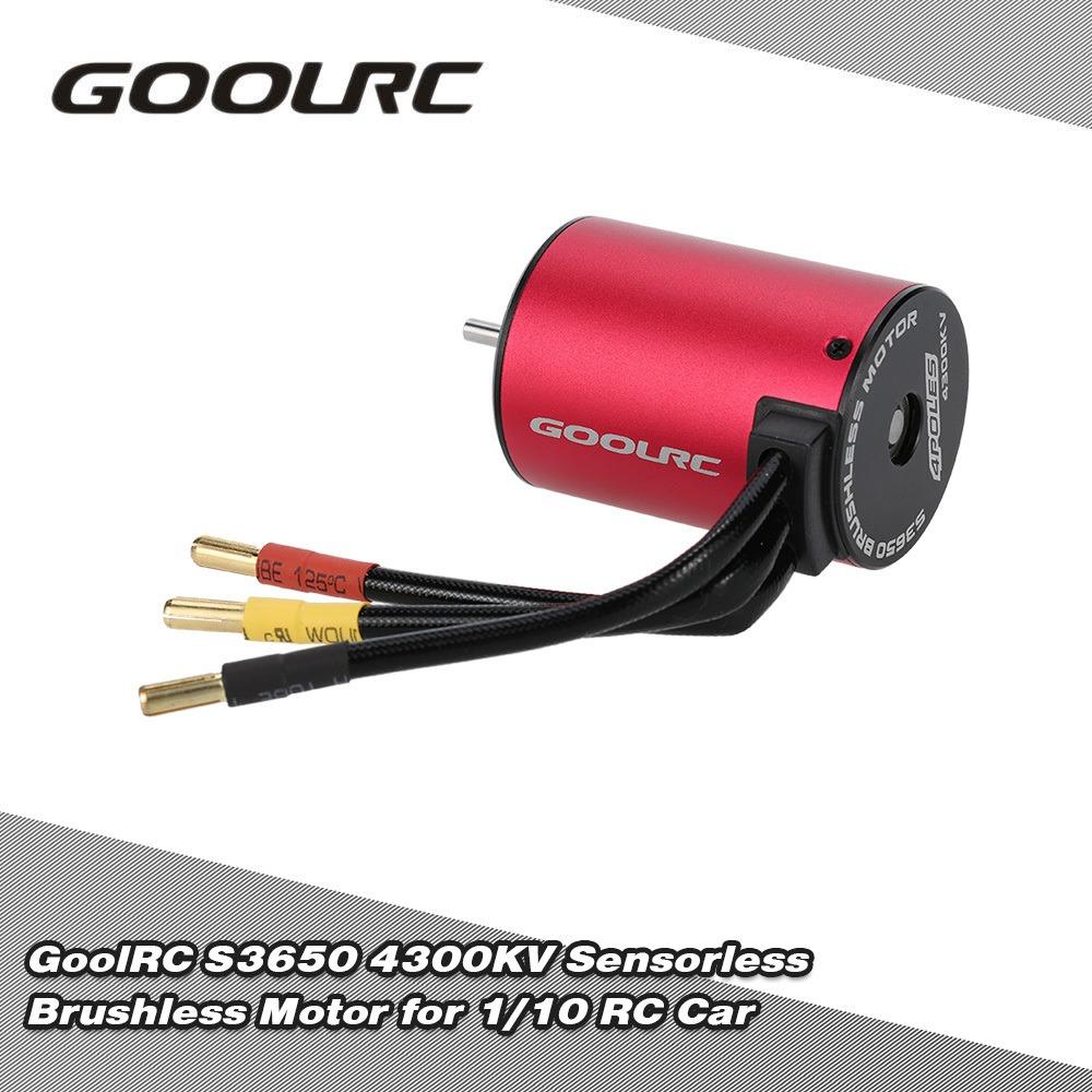 Goolrc S3650 4300kv Motor Sin Cepillo De Rojo Y Negro