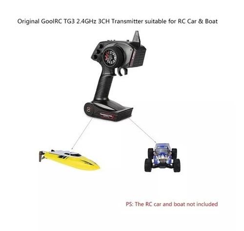 goolrc tg3 2.4ghz 3ch  rc radio controle carrinho barco