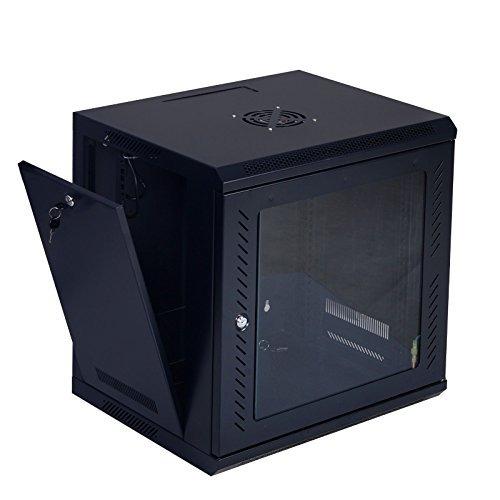 goplus® monte red wall 9u de datos del servidor del gabinet