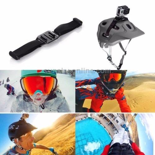 gopro 2 3 3+ 4 5 6 7 faixa ventilada capacete strap mount