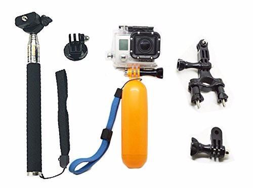 gopro bastão boia+bastão+tripod+parafuso+suporte mount bike