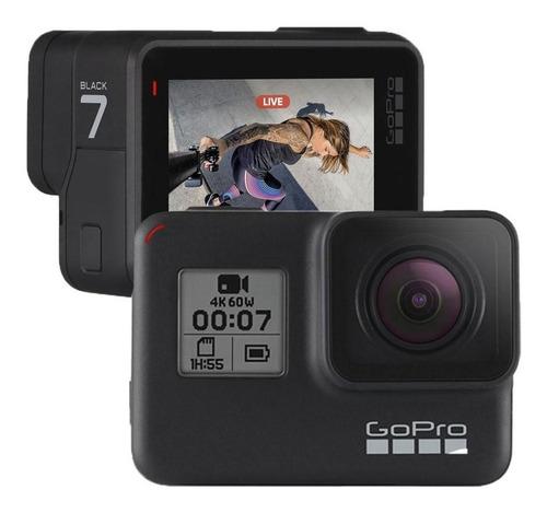 gopro câmera digital de video hero7 black 4k c/estabilização
