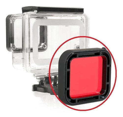 gopro estanque go pro case hero 7 6 5 + filtro de mergulho