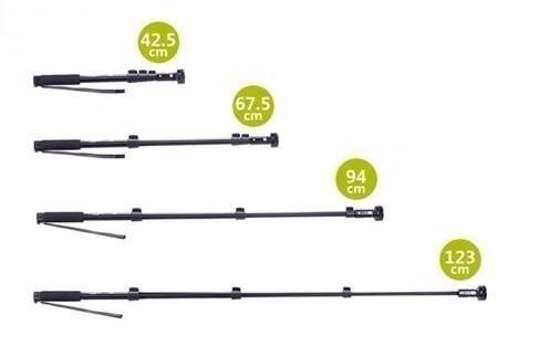gopro go pro bastao de mao retratil monopod 123cm sj4000