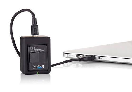 gopro go pro carregador duplo de bateria câmera ahbbp-301
