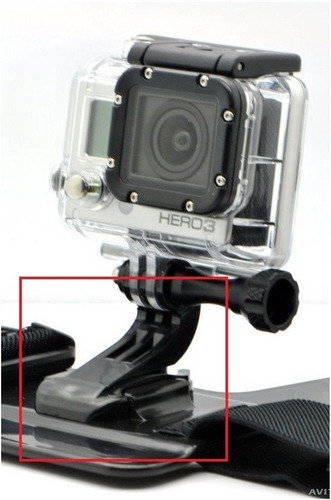 gopro go pro suporte frontal capacete font mount hook-buckle