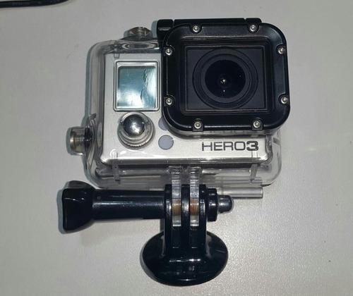gopro hero 3 black + acessórios - seminova perfeita