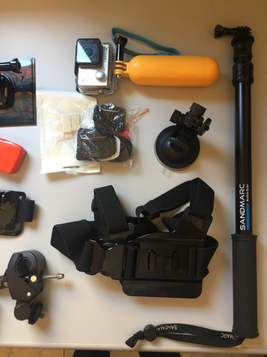 gopro hero 3+ black edition + kit acessórios