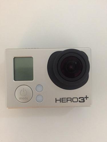 gopro hero 3+ silver + cartão de memória + acessórios