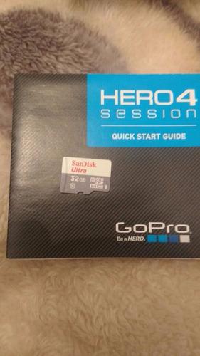 gopro hero 4 session, à prova d'água + acess + cart memória