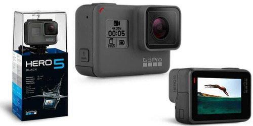 gopro hero 5 black camera tela lcd +64gb c/10+bastão