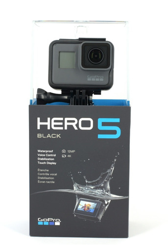 gopro hero 5 black go pro 5 4k novo - lançamento