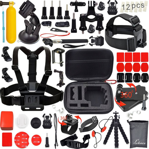 gopro hero 5 black + kit de50 accesorios + microsd 64gb
