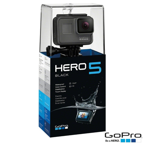 gopro hero 5 black original lacrada + nfe - 100