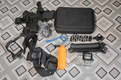 gopro hero 5 black perfeito estado com acessórios usada 12x s/ juros frete gratis