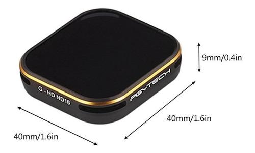 gopro hero 5/6/7 kit filtros nd 3 pack pgytech - inteldeals