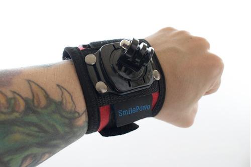 gopro hero 6 black + bastão flutuante + suporte de pulso