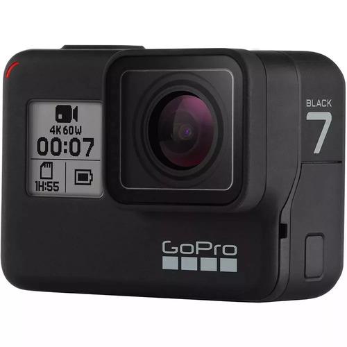 gopro hero 7 black chdhx-701 + cartao 64gb c/10 + bateria or