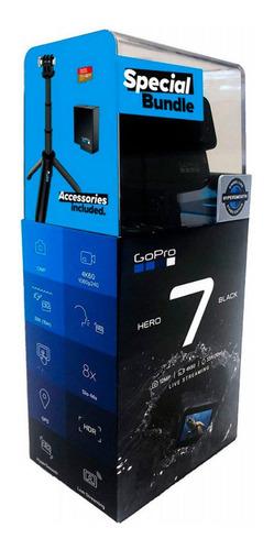 gopro hero 7 black + kit de acessórios top + entrega24h
