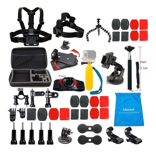 gopro hero 7 black + kit lifelimit / iprotech